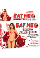Eat Me Gummy Thong And Bra Strawberry Red One Size Fits All